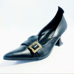 Halloween Inspired Pointy Toes Black Witch Heels.